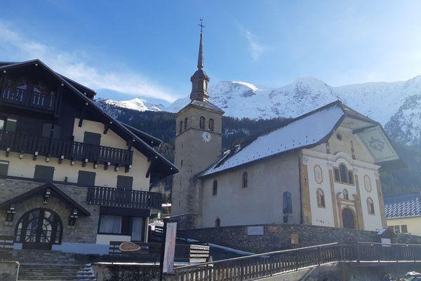 Le village des Contamines-Montjoie, en Haute-Savoie, premier foyer de Covid-19 en France. (Illustration)