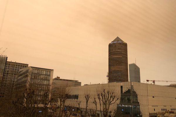 Le ciel de Lyon ce vendredi 6 février.