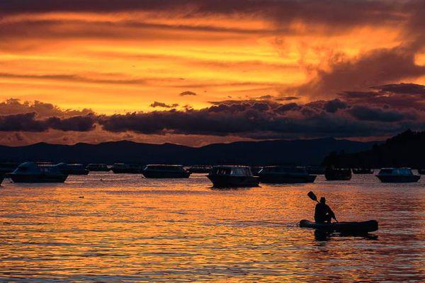 Lac Titicaca au Pérou.