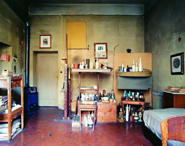 L'atelier de Morandi, situé Via Fondazza, à Bologne