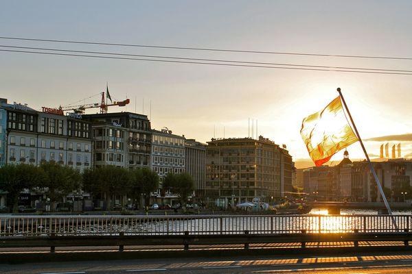 La ville de Genève.